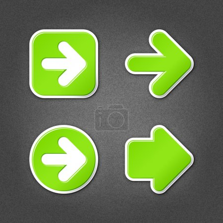 4 green sticker arrow sign web icon