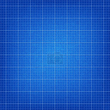 Blueprint background texture seamless pattern with noise effect for planning house. This image for clip-art design element is a bitmap copy of my vector illustrations.