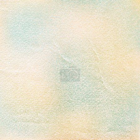 Illustration for Watercolor paper vintage texture with damages, folds and scratches. Old blank background with space for text. Green, blue, brown, beige color spots. Vector illustration design element in 8 eps - Royalty Free Image