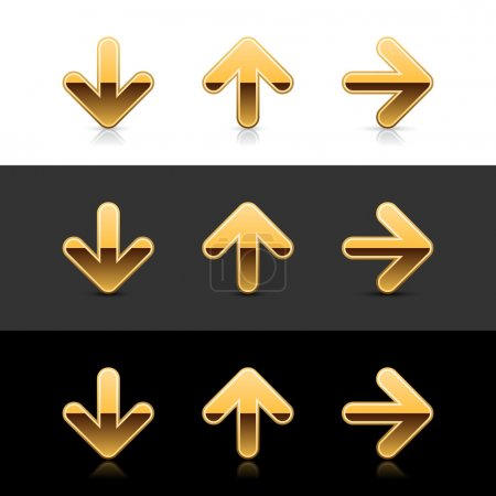 Gold arrow icon web 2.0 buttons
