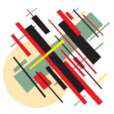 Soviet abstract painting background in style socialist avant-garde art.