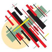 Soviet abstract painting background in style socialist avant-garde art