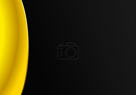 Abstract background yellow fold tissue and black metal texture