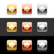 Metal web 2.0 buttons with arrow sign. Rounded squ...