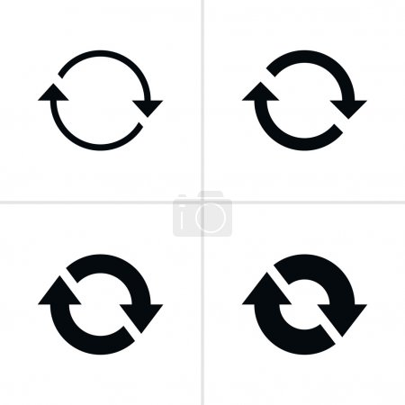 4 arrow efresh reload rotation loop sign set