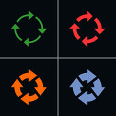 4 arrow sign reload rotation refresh  reset