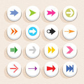 16 arrow sign icon set