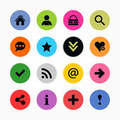 16 popular colors icon basic sign