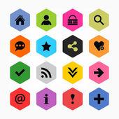 Basic sign icon set
