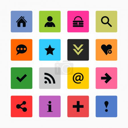 16 popular colors icon with basic sign