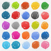 25 circle form brush stroke