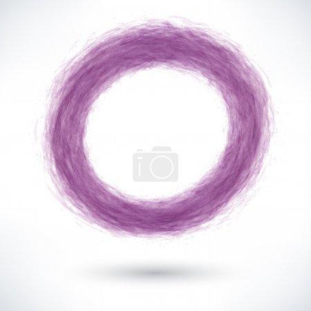 Violet brush stroke in circle