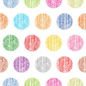 Seamless pattern with color polka dots
