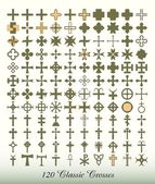 Collection of 120 classic crosses