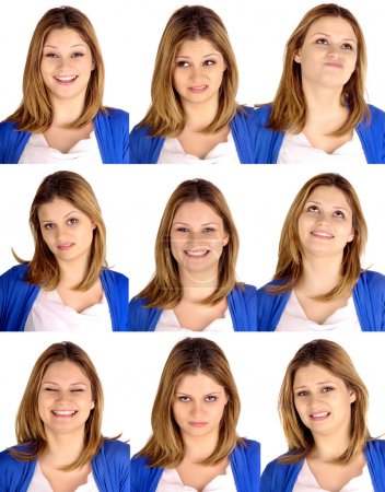 Photo for Young woman doing facial expressions - Royalty Free Image
