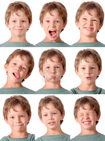Photo for Little boy doing facial expressions - Royalty Free Image