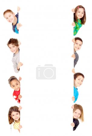 Photo for Little kids isolated in white - Royalty Free Image