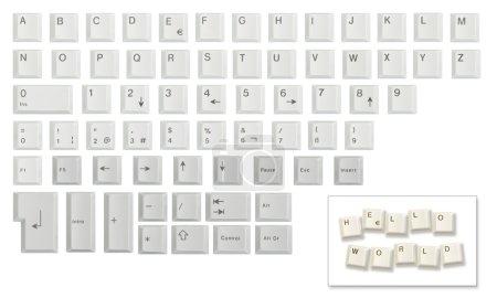 Juego de caracteres hecho de teclas de teclado