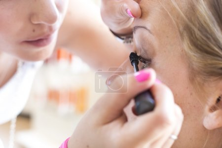 Bride make-up.