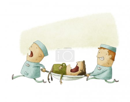 Photo for Illustration of Paramedics at Work - Royalty Free Image
