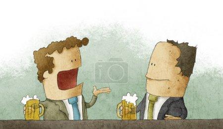 Photo pour Homme d'affaires avec bière - image libre de droit
