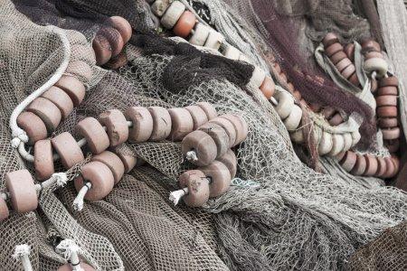 Photo pour Détails des filets de pêche - image libre de droit