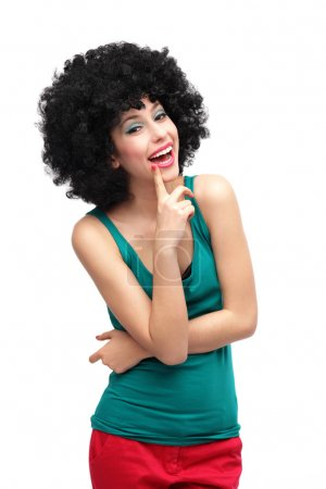 Photo for Woman with black afro hairstyle - Royalty Free Image