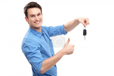 Photo for Man with Car Keys - Royalty Free Image