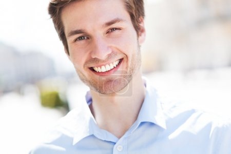 Photo for Young man smiling - Royalty Free Image