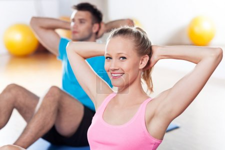 Photo for Couple working out - Royalty Free Image