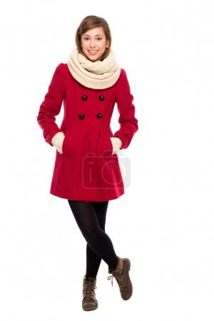 Photo for Young woman in winter clothing - Royalty Free Image