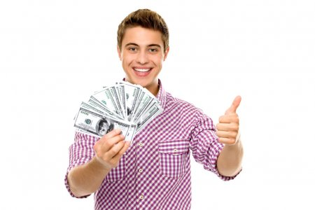 Photo for Man with money - Royalty Free Image