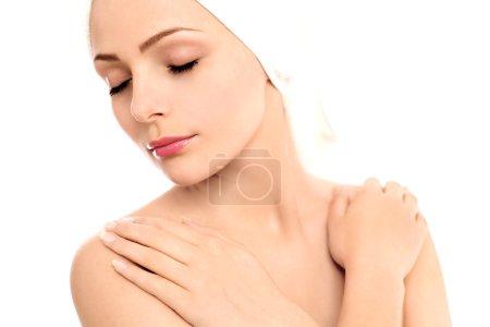 Woman wearing towel