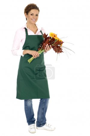 Photo for Florist holding flowers - Royalty Free Image