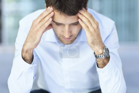 Photo for Worried man thinking - Royalty Free Image
