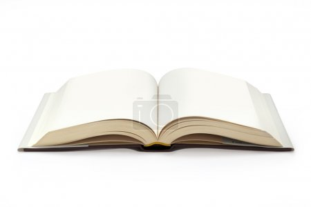 Photo for Close up of open textbook with blank pages - Royalty Free Image