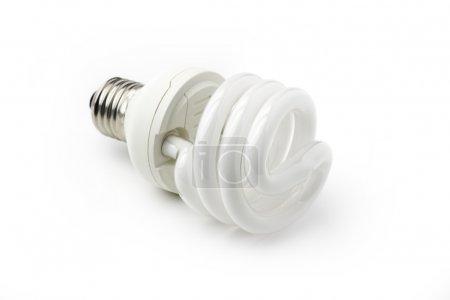 Energy saving bulb isolated on white background