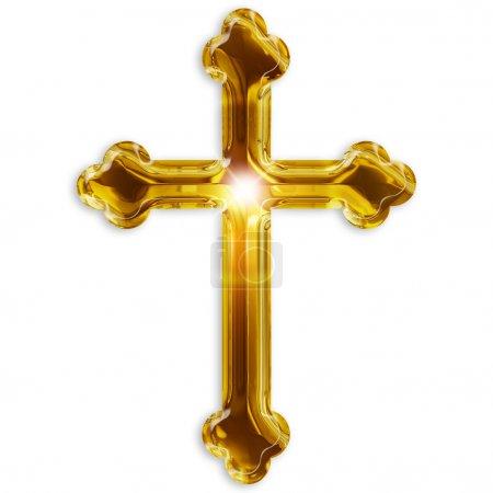 Photo for Religious symbol of crucifix isolated on white background - Royalty Free Image