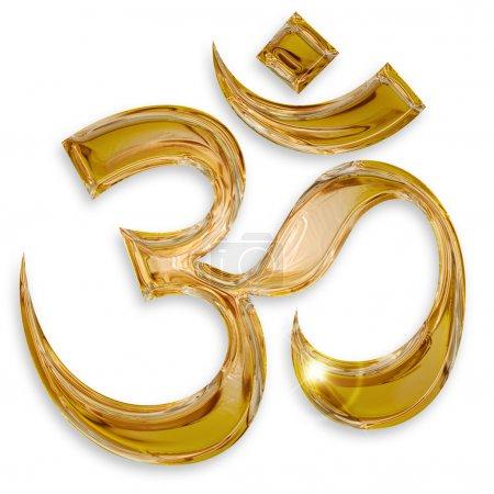Photo for Hindu om icon isolated on white background - Royalty Free Image