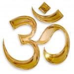 Hindu om icon isolated on white background...