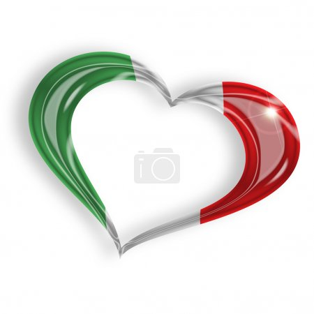 heart with italian flag colors