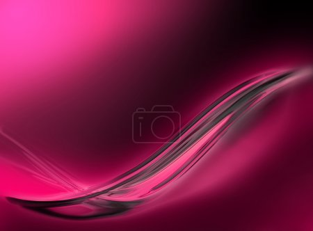 Abstract illustration of a glossy pink wave