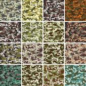 Vector Mega Set of Seamless Camouflage Pattern