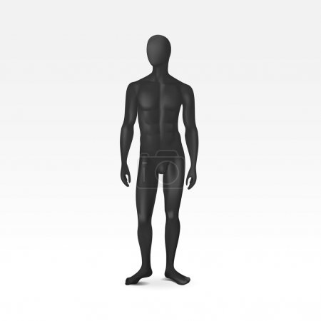 Vector Isolated Male Mannequin