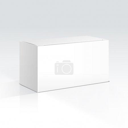 Ilustración de Caja en blanco Vector - Imagen libre de derechos