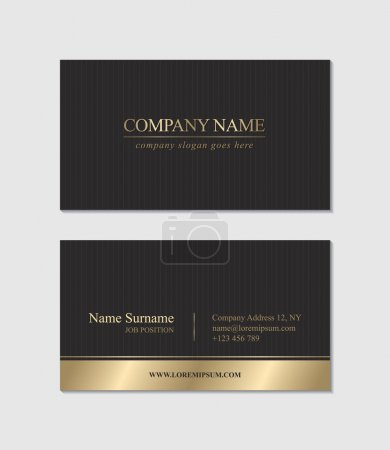 Illustration for Elegant Business Card. Vector illustration - Royalty Free Image