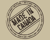 Grunge stamp made in Canada vector illustration