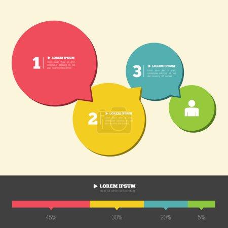 Illustration pour Infographie conception mise en page, illustration vectorielle - image libre de droit
