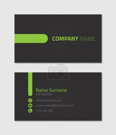 Illustration for Modern business card template, vector illustration - Royalty Free Image