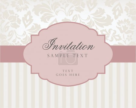 Illustration for Vector vintage background and frame with sample text, for invitation or announcement. Vector illustration. - Royalty Free Image